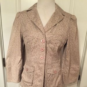 MARC MARC JACOBS Fitted Jacket tan floral print 6